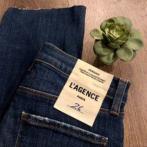 ⬇️ L'AGENCE Jordan High Rise Distressed Jeans